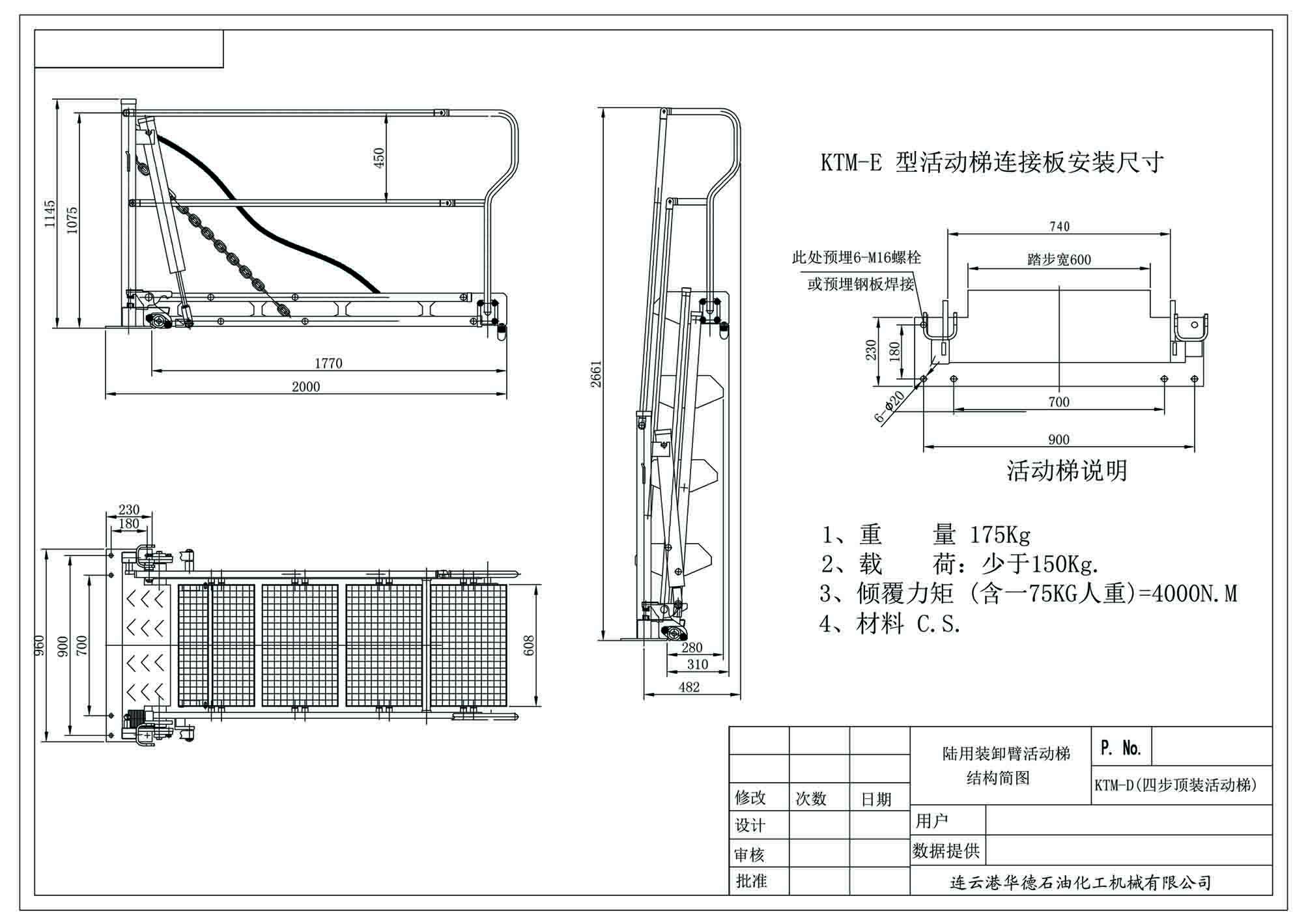 4步顶装梯